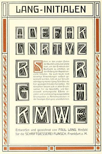 Lang Initialen from Deutsche Kunst u. Dekoration