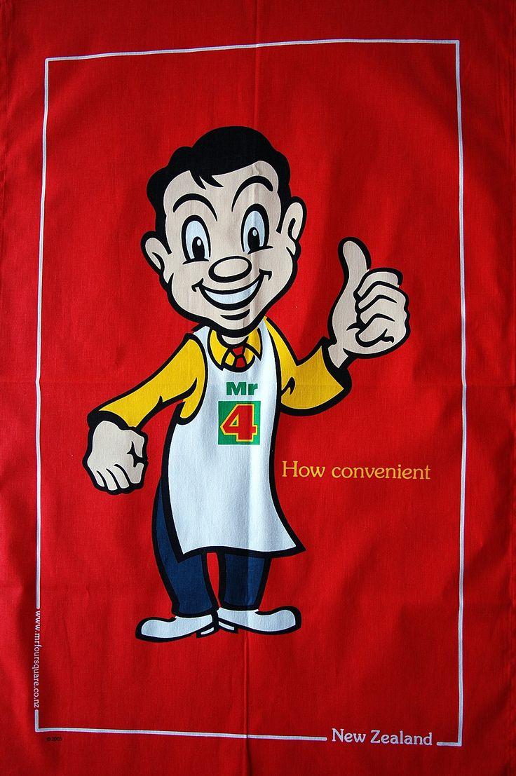 Classic Mr Four Square Tea Towel