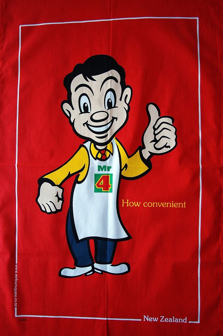 Nz fish species tea towel 12 00 the seafood new zealand tea towel - Classic Mr Four Square Tea Towel Four Squarekiwianatea Towelsnew Zealand