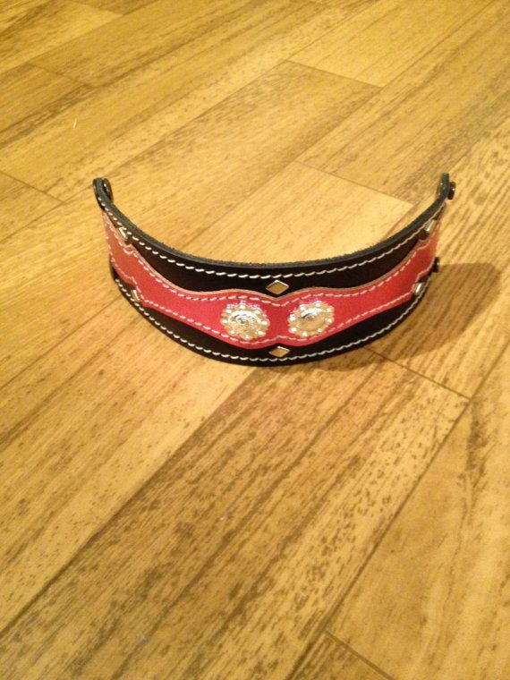 Pink and Black Western Leather Bracelet Rodeo by StarBoundWestern