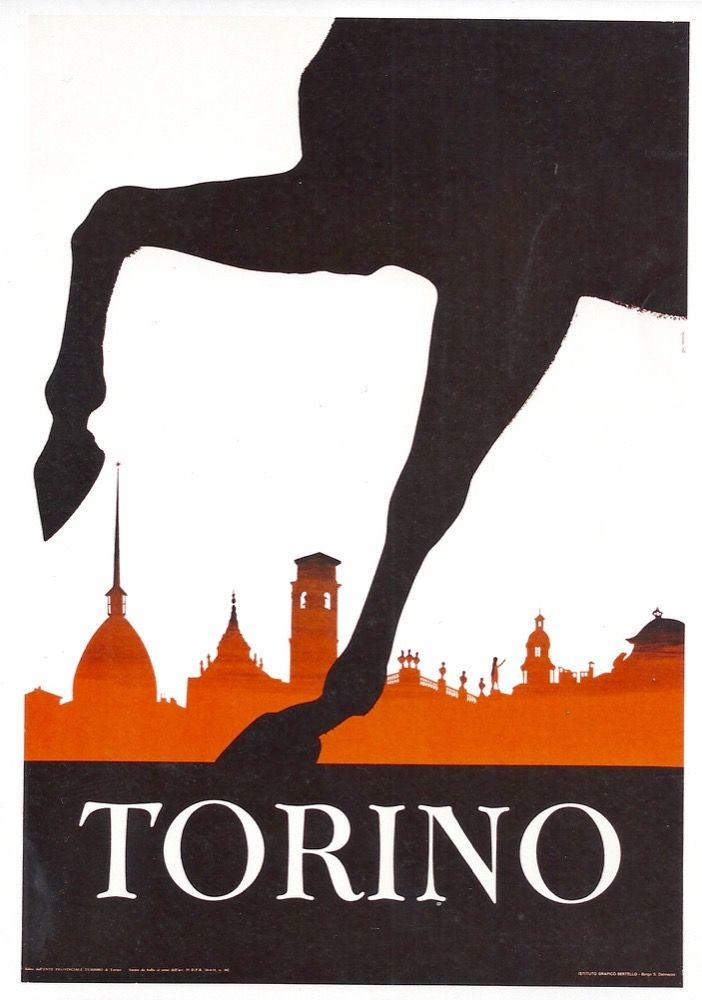 1960s Turin, #Italy #vintage #travel poster manifesto originale by www.posterimage.it