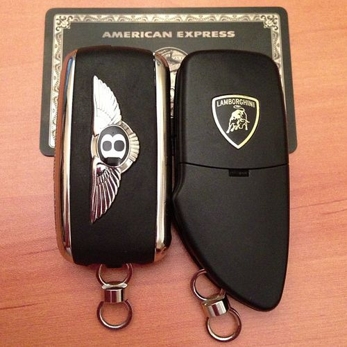 Bentley, Lamborghini & Black Card...maybe not the Bentley & the Lambo but for sure the Black card =)