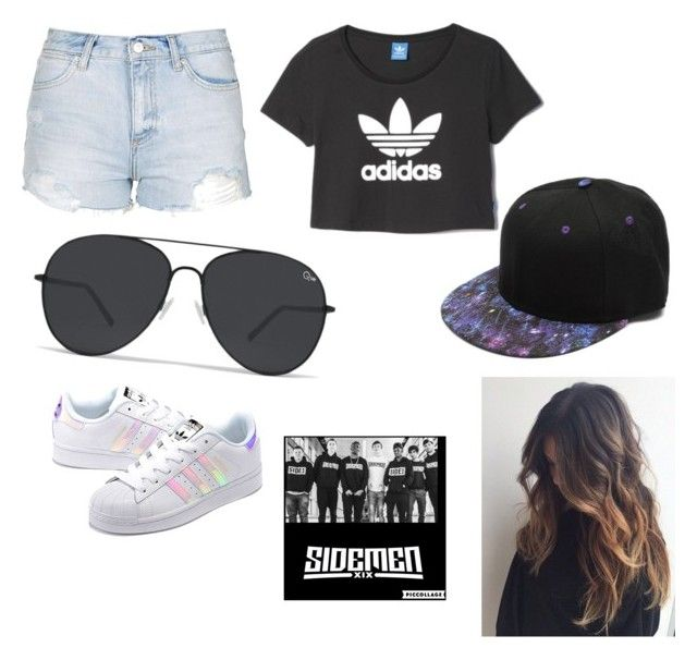 """""""Holiday with the sidemen"""" by sidemen ❤ liked on Polyvore featuring Topshop, adidas Originals and adidas"""