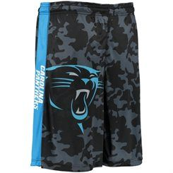 Men's Klew Black/Camo Carolina Panthers Big Logo Shorts
