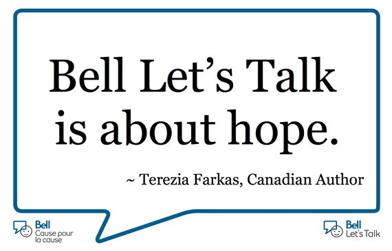 Bell Lets Talk Day Is About Hope | Terezia Farkas #depression #mental #health