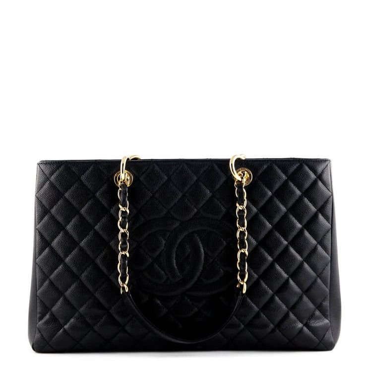 Chanel Black Quilted Caviar XL GST Tote - $3800 CAD
