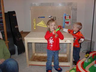 DIY kids tool bench