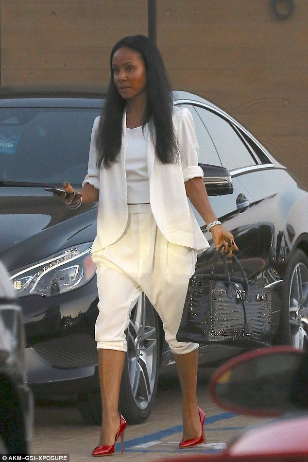 Spot of lunch: Jada Pinkett Smith put on quite the sartorial display on Tuesday as she was seen leaving Nobu in Malibu having just indulged in some sushi