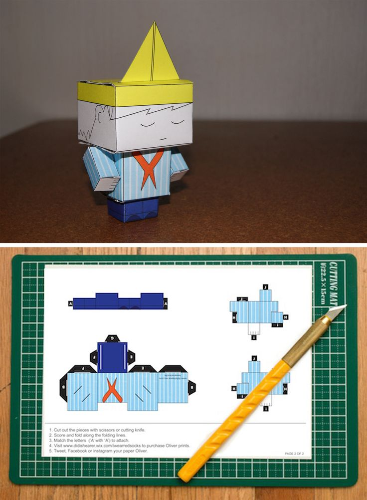#Printable paper Oliver. Print I'm and build him, perfect for keeping the kids busy. #DIY #papercrafts