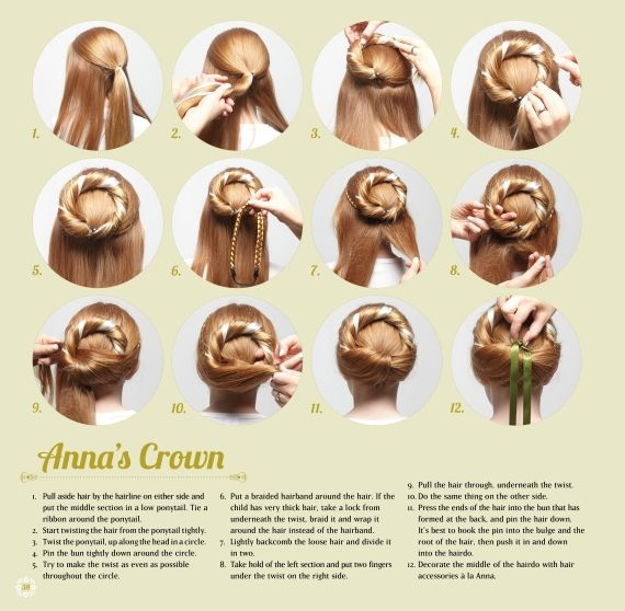 how to do anna frozen hair - Google Search