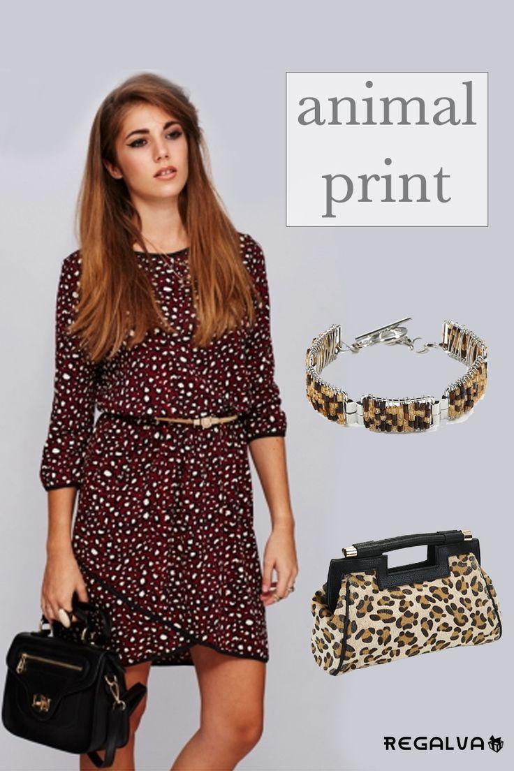 """Súmate al """"Animal Print"""". Leopardo estampado el favorito del otoño-invierno. Para las urbanitas más fashion. Ver ▶ http://regalva.com/categoria-de-producto/mujer/vestidos/ ▶ http://regalva.com/tienda/bisuteria/pulsera-lilit/ ▶ http://regalva.com/categoria-d…/complementos-2/bolsos-mujer/ #boho   #moda   #tendencias   #vestidos   #bolsos   #complementos   #ropa"""