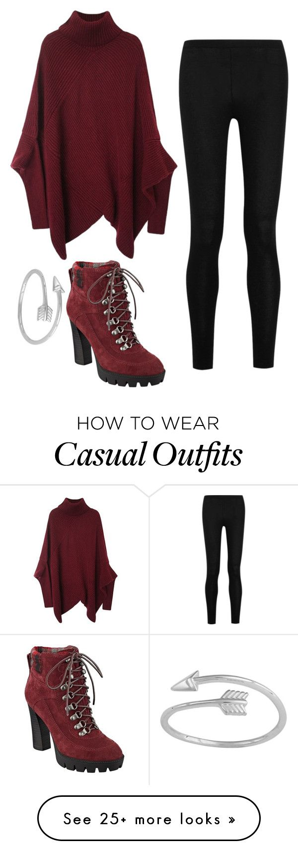 """""""Casual day"""" by hcs72902 on Polyvore featuring Donna Karan and Nine West"""