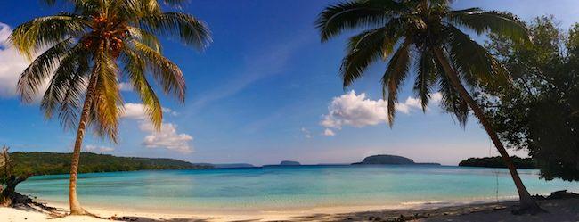 10 Days In Vanuatu Itinerary - panoramic view Lonnoc Tropical Beach