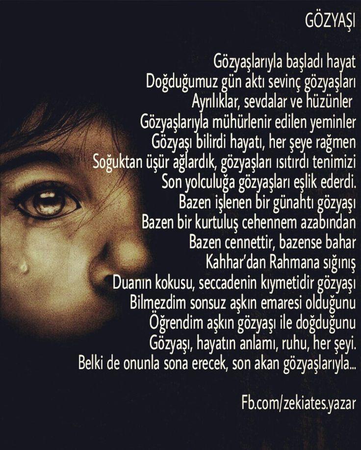 #şiir #gözyaşı #zekiates