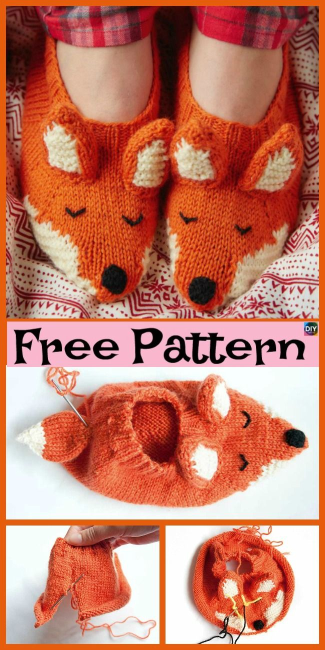Adorable Knit Fox Tunic & Slippers – Free Patterns – Socks