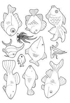 Kleurplaat vissen | coloring page Fish Kids-n-Fun | #vissen #vis #kleurplaat | See more at http://www.pinterest.com/RoosGast/