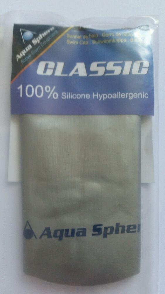 #AquaSphere Classic #Swimming #Cap #Silver Brand New