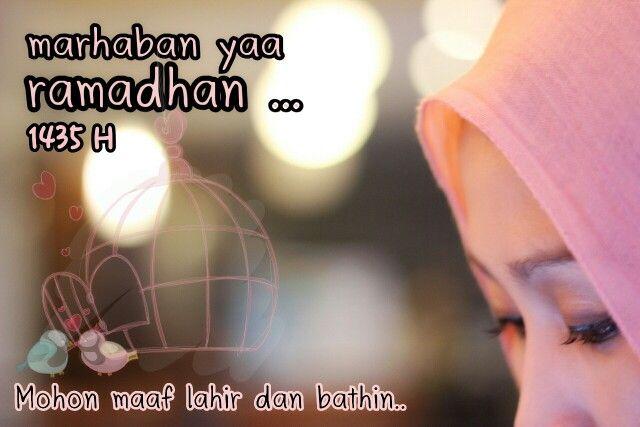 Dear Ramadhan Karim.. jika ketaatan kami kpd Allah SWT adalah hal yg paling kau inginkan, maka kami akan menyajikannya dgn sangat istimewa. Karena Nabi pernah membisikkan kepada kami bahwa kau adalah tamu terindah bagi umat islam di seluruh dunia. semoga keberkahanmu terlimpah kepada kami semua tanpa terkecuali. Aamiin..  Ramadhan tahun ke 3 di tanah rantau, sekaligus tahun pertama sebagai seorang istri. Bismillah..