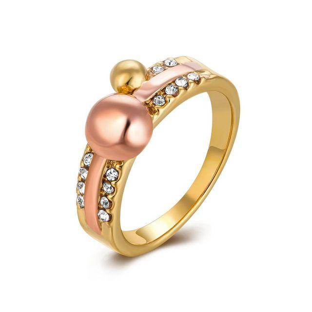 Оптовая и Новая Мода 18 К Желтый Розовое Золото и Белый золото Женщины Обручальное Обручальные Кольца Для Лучшего Друга Bague Femme ювелирные изделия