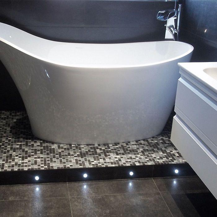 Set of 10 Cool White Bathroom LED Plinth Lights Sauna Shower Floor Decking UK in Home, Furniture & DIY, Lighting, Other Lighting | eBay