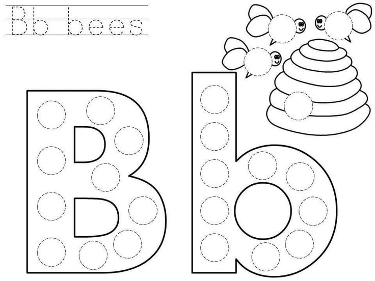 Do-a-dot-letter-b-printable « Funnycrafts