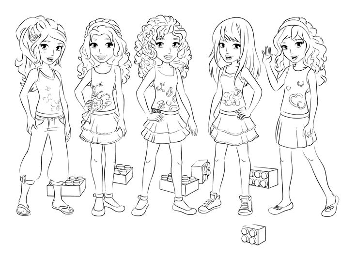 Lego Friends Birthday Party Coloring Girl