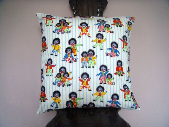 Golly cushion pillow cover 18x18 inch 45cm by ItsSewInspirational, £15.70
