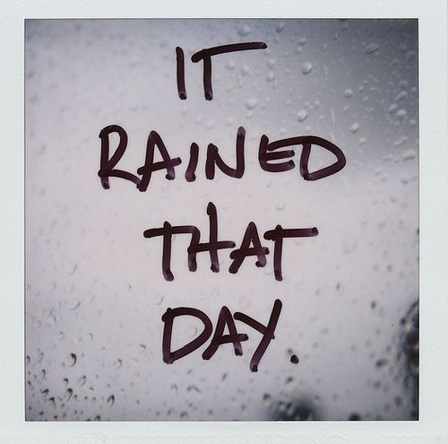 It rained that day: Inspiration, Enchanted Forests, Polaroid, Bears, Wedding Day, My Heart, Memories, Rain, 15 Years
