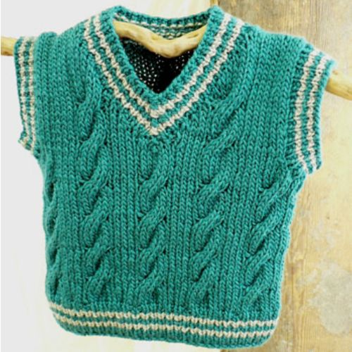 We Like Knitting: Keene Toddler Vest - Free Pattern