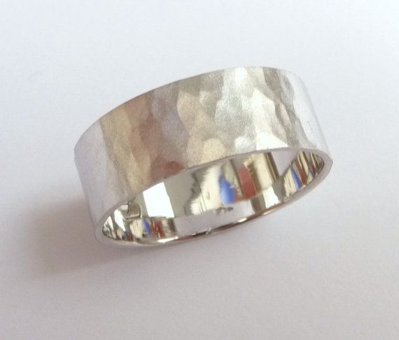 White gold wedding band women and mens wedding ring by havalazar, $400.00