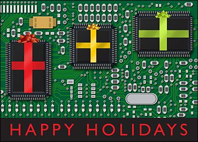 Customize Electronic Engineering Christmas Cards Online | Ziti Cards