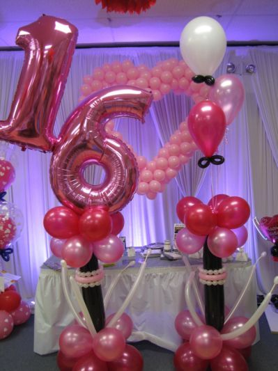 Ideas Of Sweet 16 Decorations