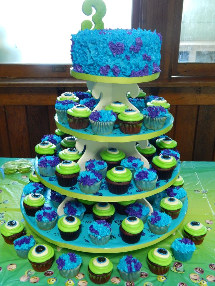 Monsters University Cupcake Tower