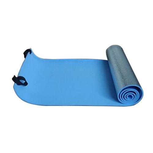 Super sell Extra Thick Camping Picnic Pad Yoga Mat Sleeping Outdoor Mattress Fitness Mat (Blue, Silver)