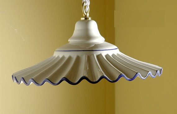 54 Lampadario sospensione Plissè cm 30 in ceramica, by Lucicastiglione, 58,00 € su misshobby.com