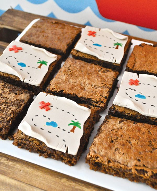 treasure map brownie toppers #pirate #party
