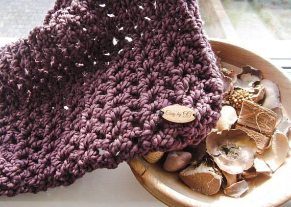 Infinity Scarf Cowl Crochet Wine