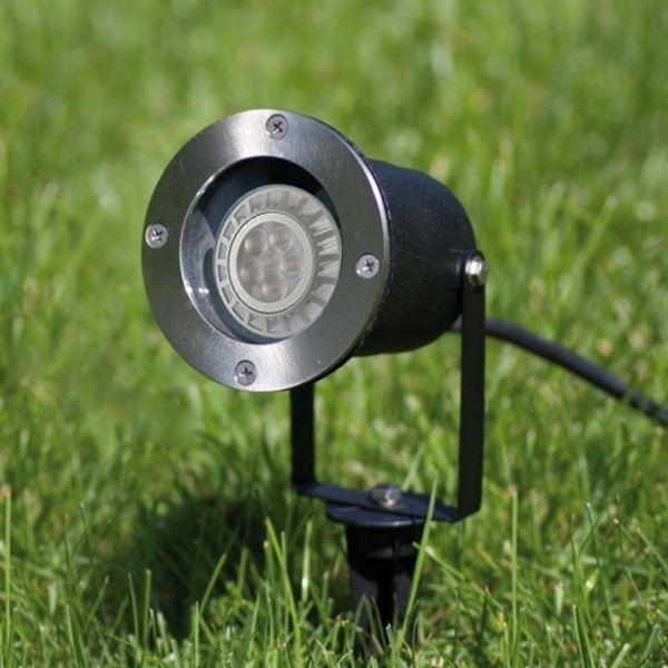 led erdspie leuchte edelstahl gartenstrahler bodenleuchte 1 5m kabel inkl stecker gu10. Black Bedroom Furniture Sets. Home Design Ideas