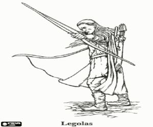 Legolas The Lord Of Rings Coloring Page