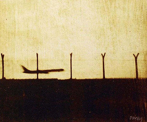 Joby Hickey ''Airplane Landing'' #planes #travel #print