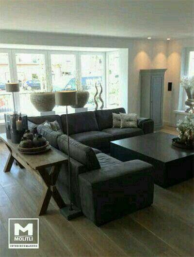 Mesa atrás do sofá