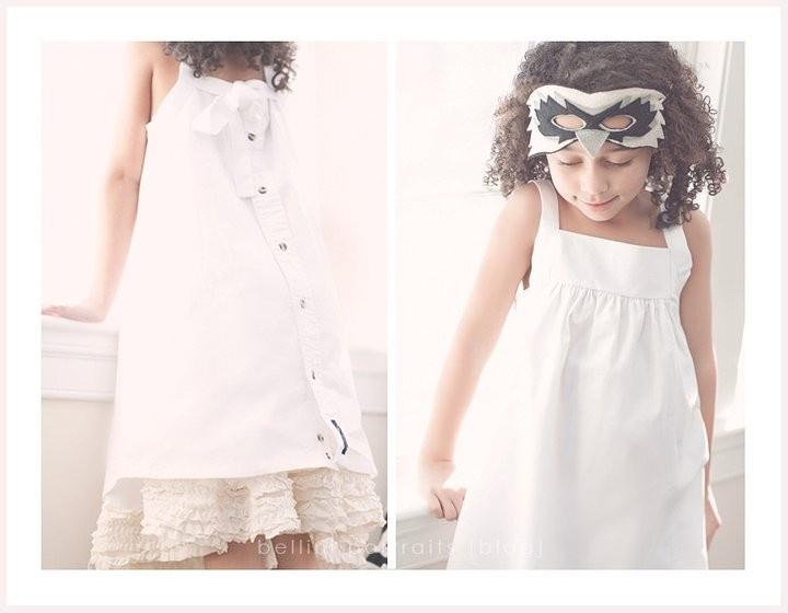 little girls dress made from mens dress shirt