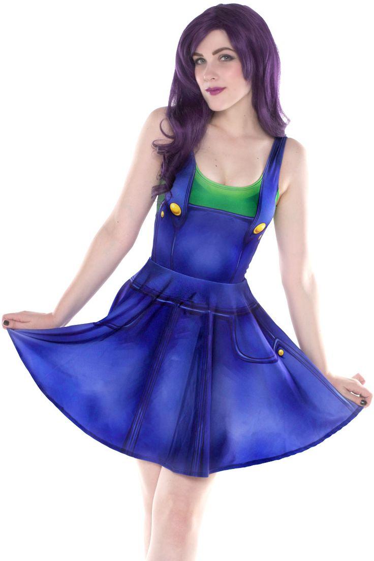 Luigi Cosplay Skater Dress - $79