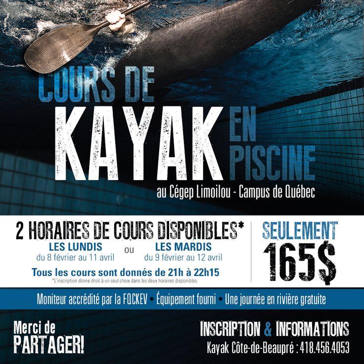 #kayak #cours #piscine