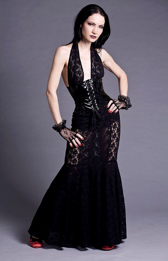 Hey, I found this really awesome Etsy listing at https://www.etsy.com/listing/79531325/black-lace-pvc-corset-gown-made-to-order