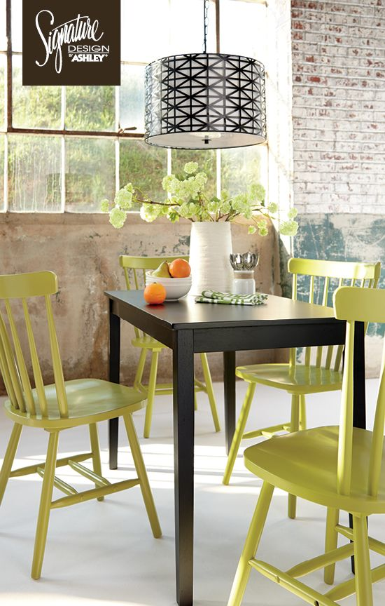 Bantilly Green Dining Room Chairs - Dining Room Furniture - #AshleyFurniture