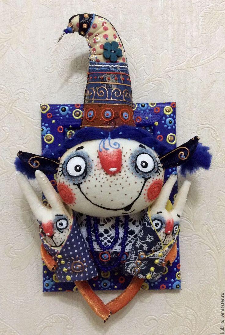 """Купить """"Берегушечка с зайками"""" - комбинированный, авторская кукла, подарок на 8 марта, подарок девушке, панно"""