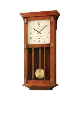 seiko dark brown wall clock brown one size