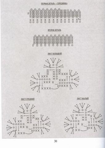 """Книга """" Цветы связанные крючком"""" / Вязание крючком / Вязание крючком для начинающих"""