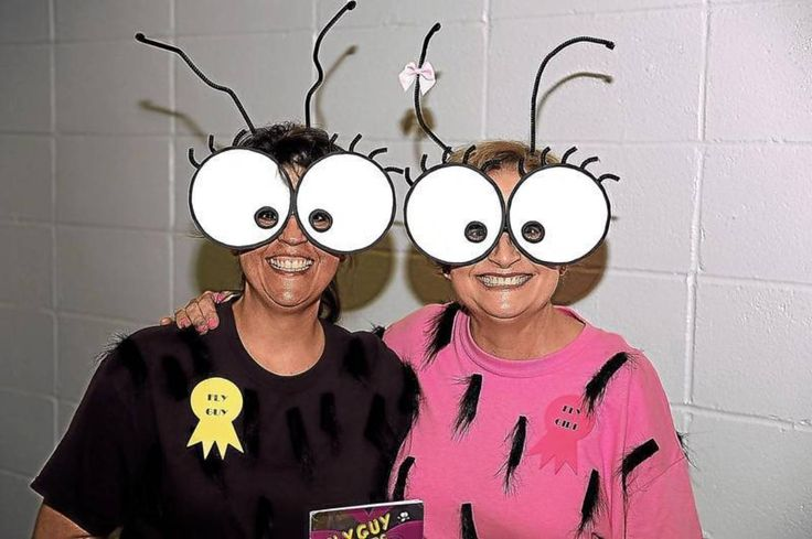"Industrial Elementary West had Book Character Day on May 16. Melissa Roessler, left, and Kaylan Moyer dressed as Fly Guy and Fly Girl, characters from the book, ""Fly Guy Meets Fly Girl."""